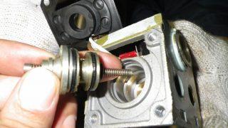 始動空気電磁弁の損傷